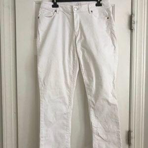 Loft White Jean Pants 30/10